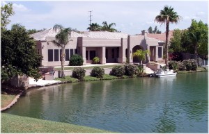 Val Vista Lakes Lakefront home