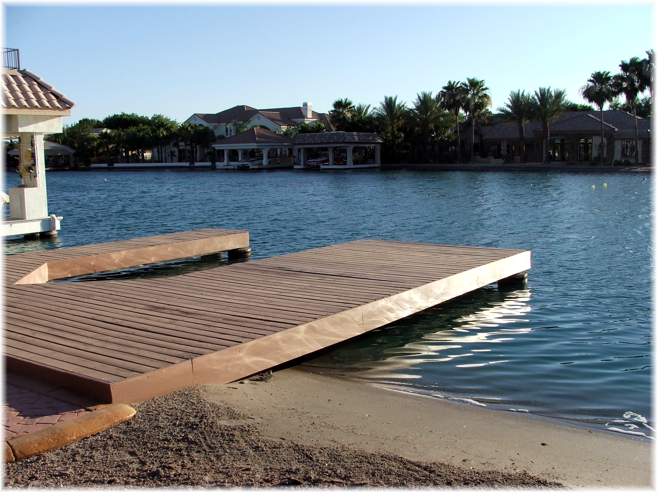 Phoenix arizona waterfront homes 187 crystal ponit boat dock
