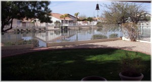 Ventana lakes backyard view of lake