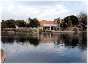 Waterfront homes in Pecos Ranch lakeside community
